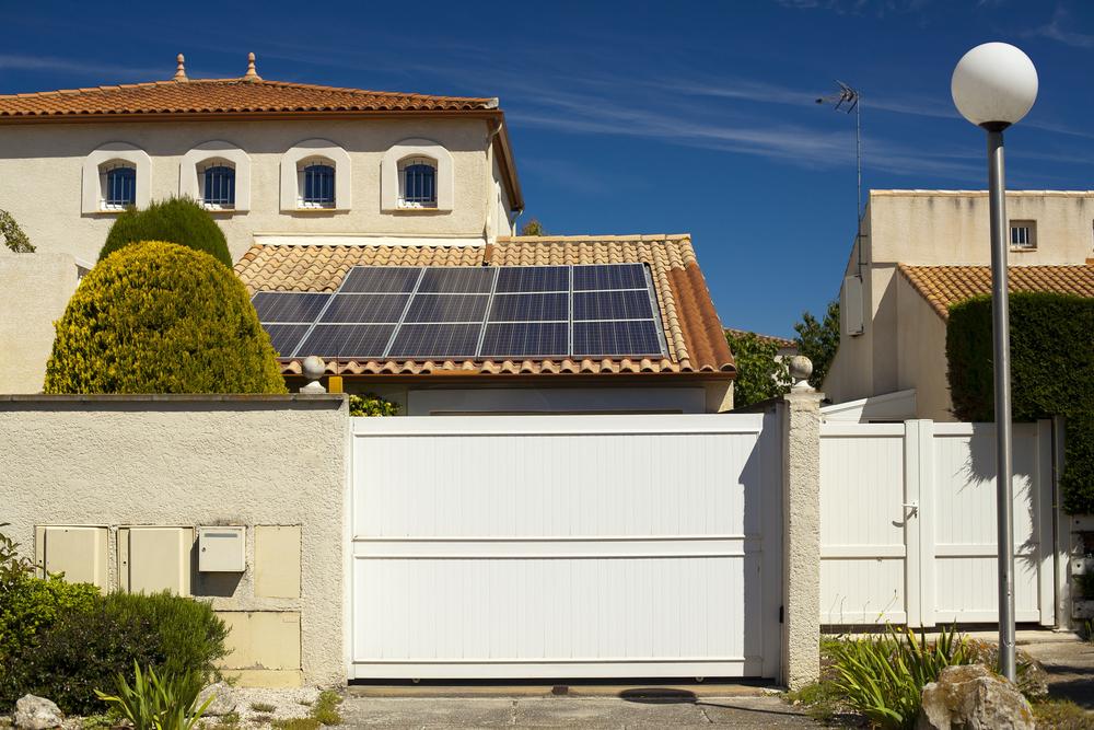 alimentation solaire portail