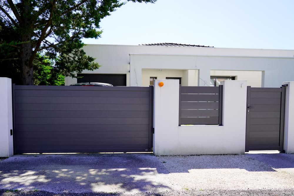 jardin esthétique portail aluminium